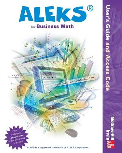 Aleks Bus Math Access Card and User's Guide - 1 Sem Standalone