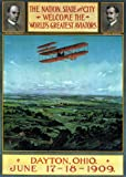 AIRPLANE WRIGHT BROTHERS WORLD'S GREATEST AVIATORS DAYTON OHIO 1909 LARGE VINTAGE POSTER REPRO