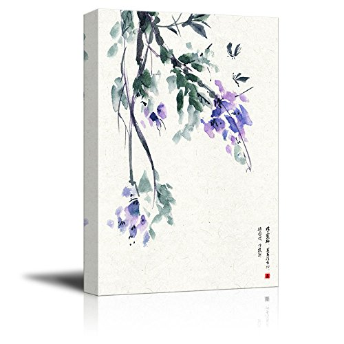 Chinese Ink Painting Style Purple Flowers Gallery