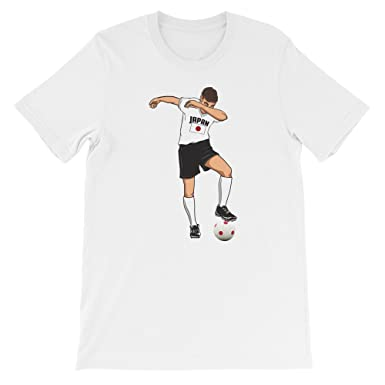 7a504deeb Amazon.com  Delsee Brands   Products Japan National Soccer Team Shirt -  Funny Dabbing Player Top  Clothing