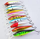 Search : 10 Pack Deep Saltwater Fishing Lures, Annymall Squid Laser Salwater 3D Minnow Fishing Baits Tackle Crankbaits Salt Swimbait