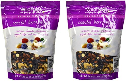 WildRoots Coastalberry 100 % Natural Trail Mix (Pack of 2) (Blueberry Yogurt Covered Raisins)