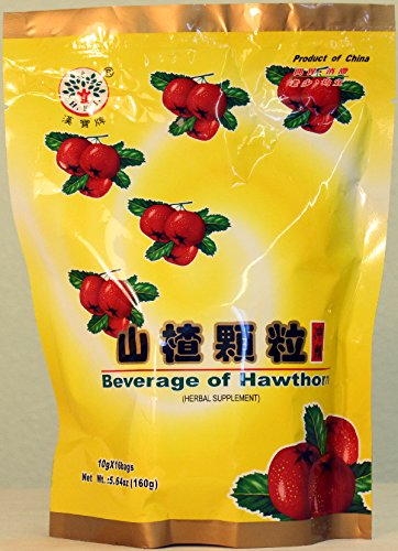 H.E.I. Beverage of Hawthorn Herbal Supplement – 10g x 16 bags, net wt. 5.64 oz