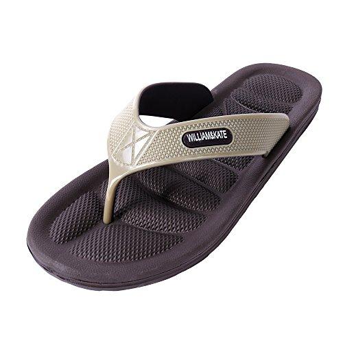 Foot Men's Flip amp;KATE Sandals Flops Massage Health Slippers Brown Reflexology Sandals WILLIAM Fashion wXAx5wpq