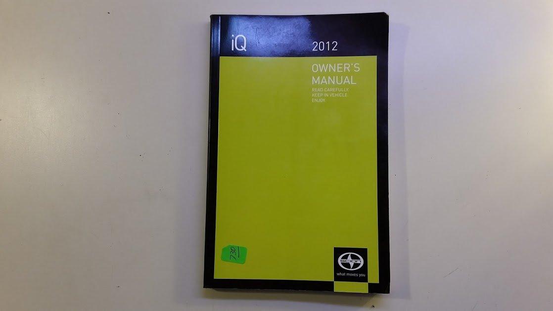 2012 scion iq owners manual toyota motor company amazon com books rh amazon com 2015 scion iq owner's manual 2013 scion iq owner's manual