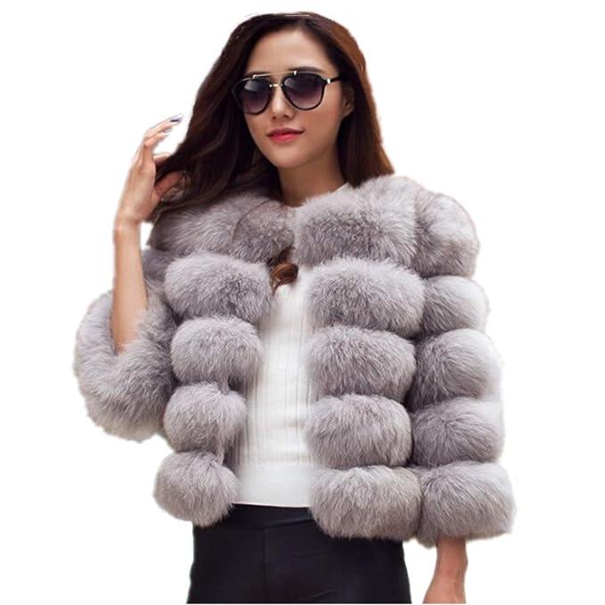 Women's 70s Shirts, Blouses, Hippie Tops Lisa Colly Women Winter Furs Coat Jacket Luxury Faux Fox Fur Coat Slim Long Sleeve Collar Coat Faux Fur Coat Overcoat $96.90 AT vintagedancer.com