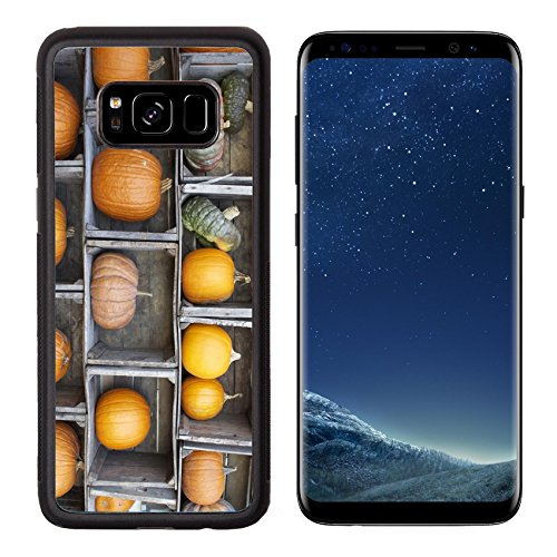 Pumpkin Best Ideas Carving (Liili Premium Samsung Galaxy S8 Aluminum Backplate Bumper Snap Case ID: 23302391 A colorful display of pumpkins and gourds arranged in old farm)