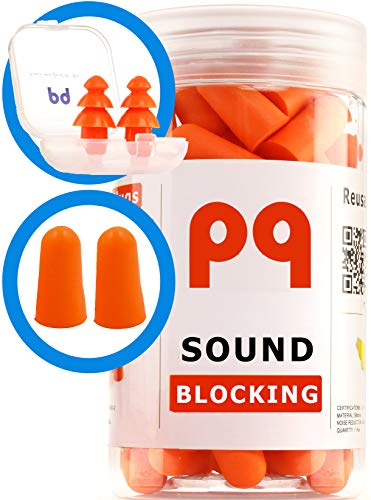 PQ Earplugs for Sleep - Comfortable & Reusable Ear Plugs for Side Sleepers - Sound Blocking Level 32 dB - Noise Cancelling for Snoring & Reusable Womens Ear Plugs for Swimming & Traveling by Peace&Quiet