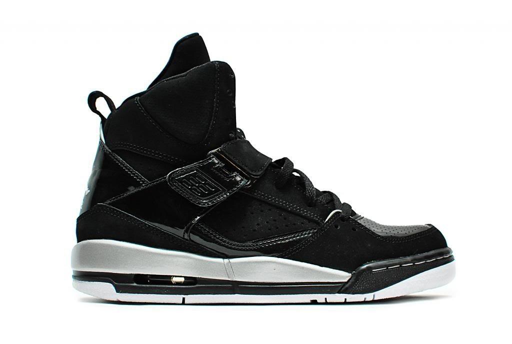 Nike Jordan Flight 45 High GG, Espadrilles de Basket-Ball Fille - Différents Coloris - Noir/Plateado/Blanco/Amarillo (Black/Mtllc SLVR-WHT-Mtllc GLD), 39 EU