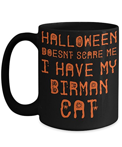 Halloween Birman Cat Mug - White 11oz Ceramic Tea Coffee Cup - Perfect For Travel And Gifts -