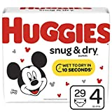 Huggies Snug & Dry Baby Diapers, Size 4 (fits 22-37 lb.), 29 Count, Jumbo Pack (Packaging May Vary)