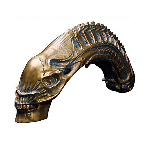 Predator VS Alien Skull Fossil Resin Model AVP Collectible Mardi Gras (Avp Costumes)