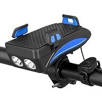 TGB Voorlicht voor fiets, 4-in-1, met powerbank-accu, 4000 mAh, 6-12 uur, 3 modi, led-licht, 400 lumen, 130 dB, 5…