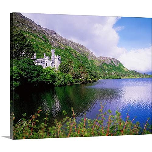 The Irish Image Collection Premium Thick-Wrap Canvas Wall Art Print Entitled Kylemore Abbey, County Galway, Ireland 20