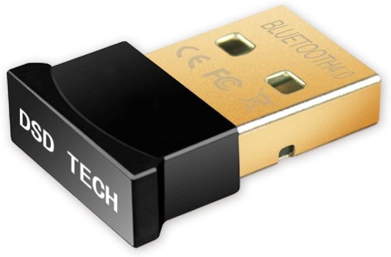 DSD TECH Bluetooth Adaptador dongle USB 4.0 compatible con Windows 10, 8.1, 8, 7, Vista, XP, Classic Bluetooth y auriculares estéreo