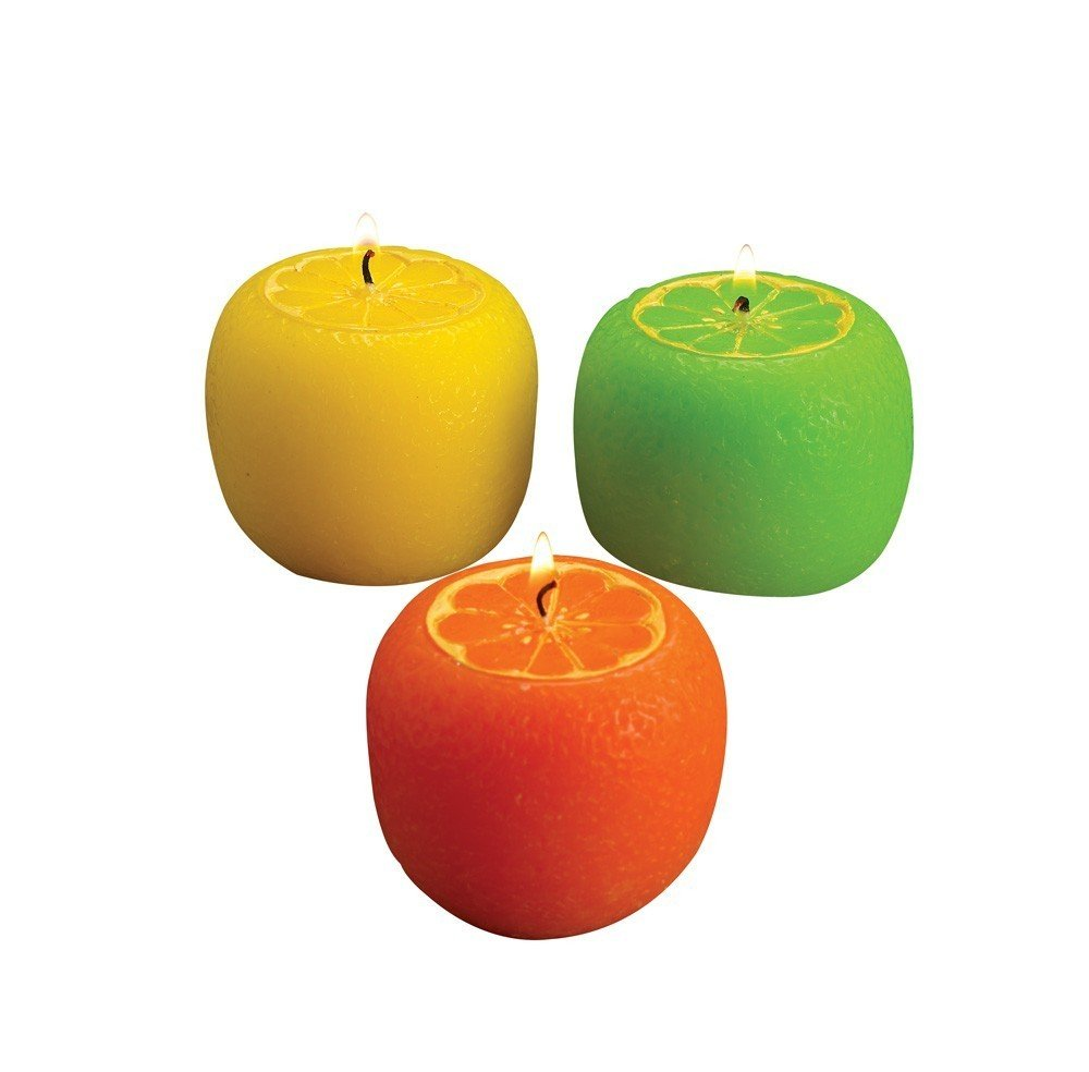 Biedermann & Sons Assorted Scented Candles, Citrus, 2 Sets of 3 C1564