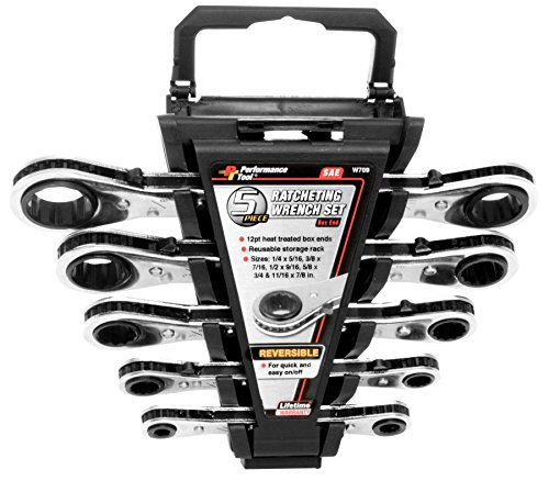 Performance Tool W709 5-Piece SAE Ratcheting Wrench Set ()