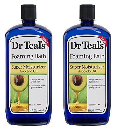 Dr. Teal's Ultra Moisturizing Foaming Bath with Avocado Oil,34 FL OZ (2 Pack-68 FL OZ) ()