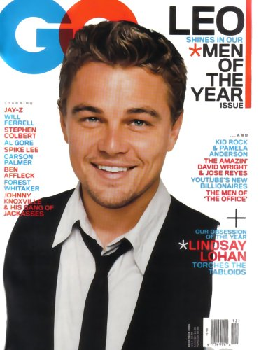 GQ Magazine Leonardo DiCaprio December 2006 Issue (Lindsay Lohan, Pam Anderson & Kid Rock, Jay-Z, The - Johnny Jackass From