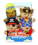 Toys : Melissa & Doug Bold Buddies Hand Puppets (Set of 4) - Knight, Pirate, Sheriff, and Superhero