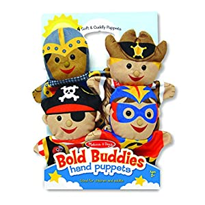 melissa & doug bold buddies hand puppets (set of 4) - knight, pirate, sheriff, and superhero - 51C9VPWTGLL - Melissa & Doug Bold Buddies Hand Puppets – The Original (Set of 4, Knight, Pirate, Sheriff, Superhero, Soft Plush, Great Gift for Girls and Boys – Best for 2, 3, 4, 5 and 6 Year Olds)