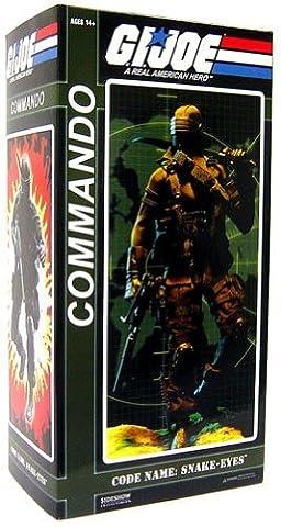 GI Joe Sideshow Collectibles 12 Inch Action Figure Commander Snake Eyes by G. I. Joe