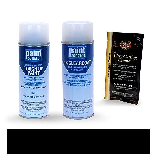 PAINTSCRATCH 2008 Jaguar X-Type Ebony 1807/PEC Touch Up Paint Spray Can Kit by Original Factory OEM Automotive Paint - Color Match Guaranteed by PAINTSCRATCH
