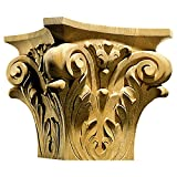 13''TW x 7''BW x 12''H Capital Corinthian Square Extra Large, Red Oak
