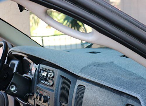 Dodge Ram Charcoal Carpet Dashboard Cover- Fits 2002 - 2005 1500, 2003 - 2005 2500 - 3500. Custom Fit, Easy Installation,