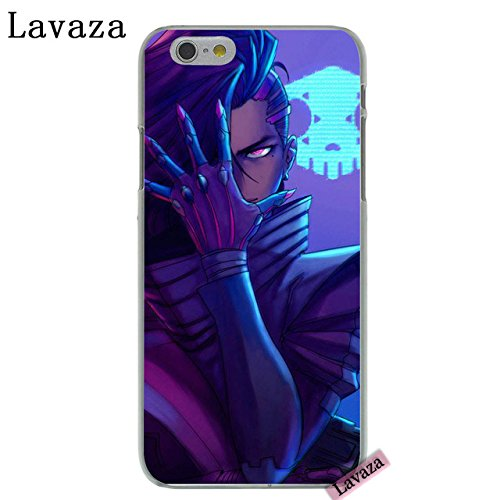 CH Purple Blue Overwatch iPhone 6 Case Sombra I Phone 6S Cover Hacker Damage Player Over Watch PC Gaming Theme Esports Computer Game Gun Multiplayer Shooter, Hard Plastic
