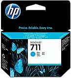 HP HEWCZ130A 711 Cyan Ink Cartridge, Cyan