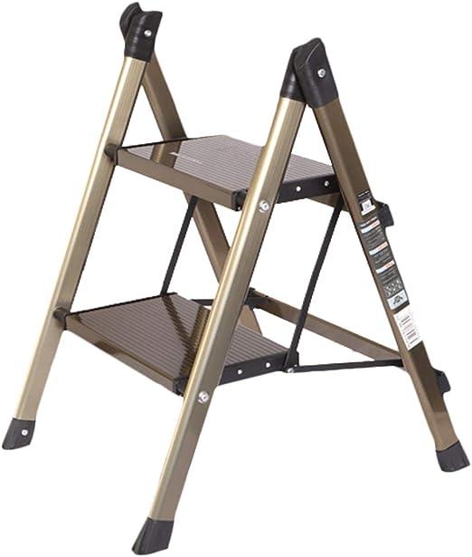 LPZ Escalera de Tijera Escalera Plegable Escalera telescópica Aleación de Aluminio Estante Grueso y Duradero Escalera de Dos o Tres escalones (Size : Two Steps 64cm): Amazon.es: Hogar