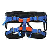 Fusion Climb Theo Lite Padded Rappeling Adjustable Harness 23kN M-XL Blue