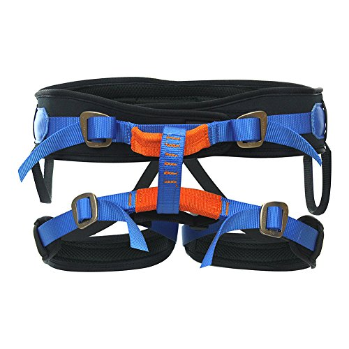 Fusion Climb Theo Lite Padded Rappeling Adjustable Harness 23kN M-XL Blue by Fusion Climb