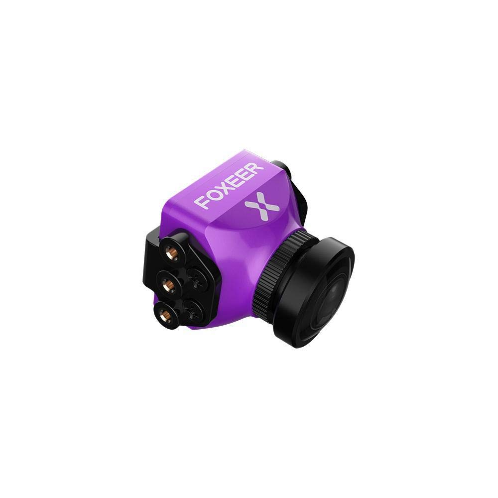 Studyset Foxeer Predator V3 Racing All Weather Camera 16:9/4:3 PAL/NTSC switchable Super WDR OSD 4ms Latency Remote Control Purple 2.5MM