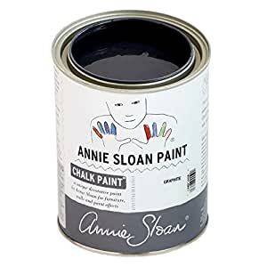 CHALK PAINT (R) by Annie Sloan - Graphite (Quart - 32oz) – Decorative paint for furniture, cabinets, floors, home decor and accessories – Water-based – Non-toxic – Matte finish