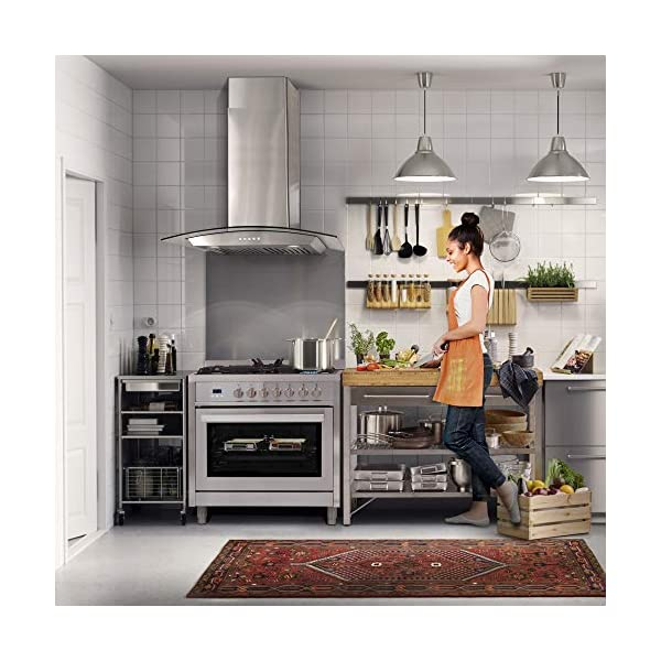 Cosmo F965 36 in. Dual Fuel Gas Range with 5 Sealed Burners, Convection Oven with 3.8 cu. ft. Capacity, 8 Functions… 2