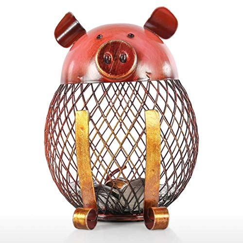 - Tooarts Vintage Piggy Bank Children Toy Money Bank, Metal Coin Holder Boy Girls Coin Money Cash Saving Box for Decoration Gift