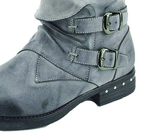 Damen Stiefelette Kayla grau Schuhe leicht gefüttert Gr.37