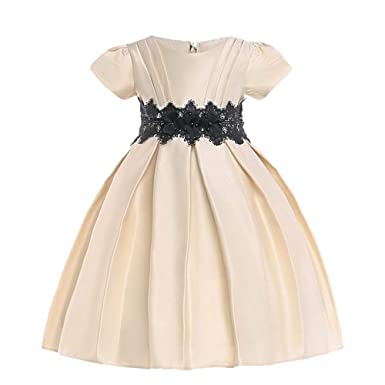 d830ddcc3edd1 HUAANIUE Classique Robe de Fille Demoiselle d'Honneur Taille Enfant  Princesse Robe de Cérémonie Fille