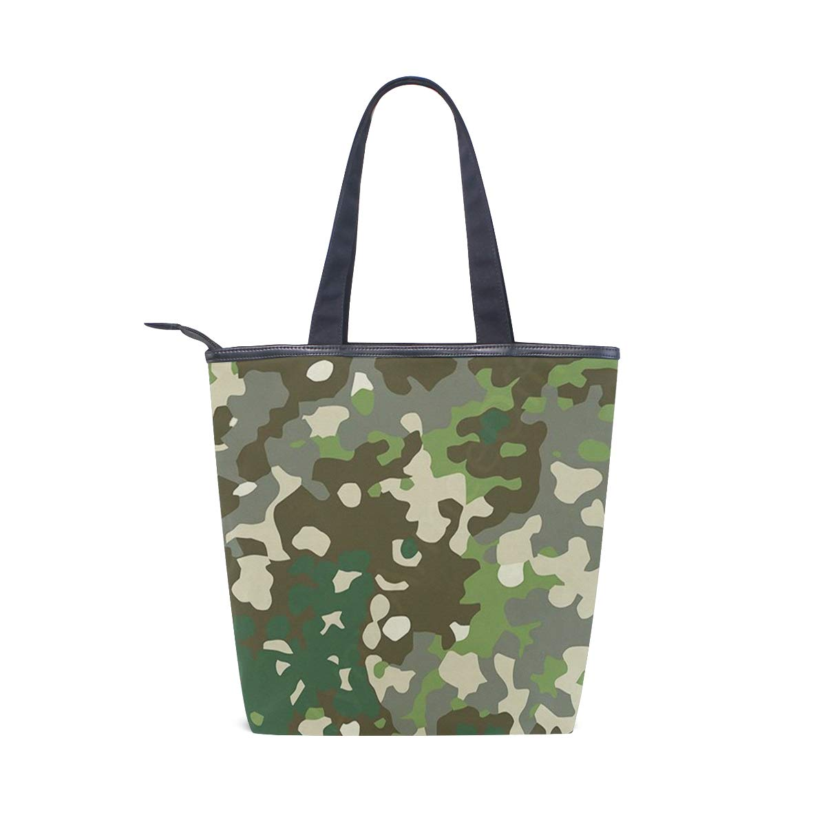 65bc0eb1c5d0 Amazon.com  Camouflage Canvas Tote Handle Bag Tote bags Shopping Bag Large  Travel Bag With Zipper Shoulder Strap Reusable For Shopping and Decorating   Shoes