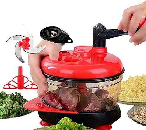 Manual Alimentos Grinder Robot de cocina mezclador para picar Robot de cocina comida para niños Chopper Carne Frutas Verduras Frutas a caparazón cebollas ajos Tomate 2000 ml: Amazon.es: Hogar