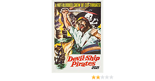 Pirates Action Vintage Trash Movie Poster M513 12 pages A4 2021 Wall Calendar