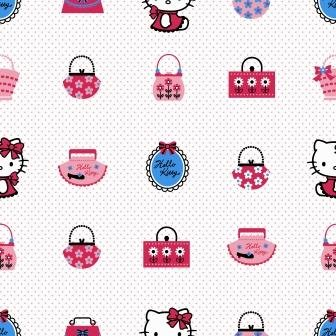 Marshalls Paper Hello Kitty Wallpaper 5 3sqmt White Red Blue Pink