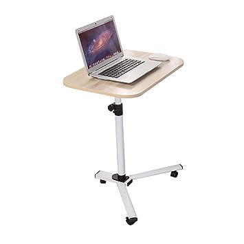 WENJUN Mesa para Computadora, Mesa De Trabajo Móvil, Estación De Trabajo con Altura Ajustable