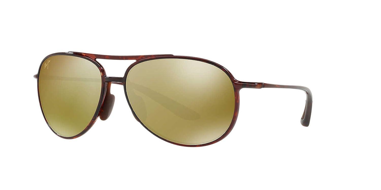 Maui Jim ALELELE BRIDGE Polarized Aviator Sunglasses h438-10 マウイジム 偏光レンズ レディース メンズ用 サングラス 日本製 [並行輸入品] B076MHWDZS
