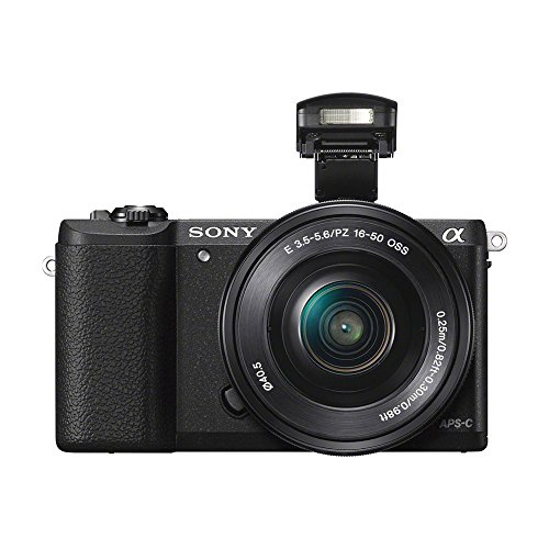 Sony Alpha a5100 24.3MP HD 1080p Mirrorless Digital Camera with 16-50mm Lens Black Bundle with 32GB Memory Card, Bag, Battery, Charger, 40.5mm Kit, Training Guide, Table-top Tripod and HDMI Cable