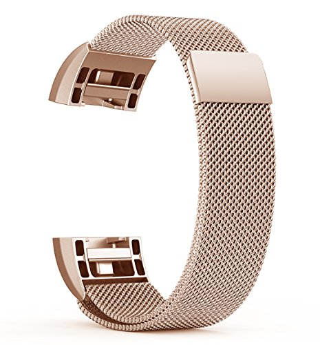 BeneStellar Fitbit Charge 2 Band Metal, Stainless Steel Milanese Metal Small & Large Band for Fitbit Charge 2