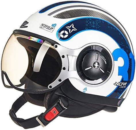 ZJJ ヘルメット- セミカバーヘルメット、ユニセックスヘルメット、雨および紫外線保護用ヘルメット、ショートレンズ (色 : 白, サイズ さいず : XXL)