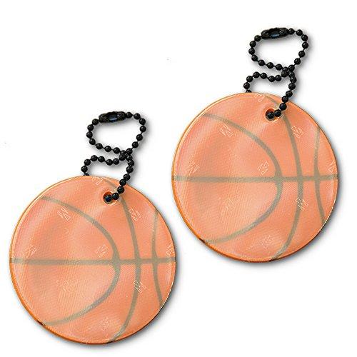 funflector Safety Reflector - Basketball - 2-pack